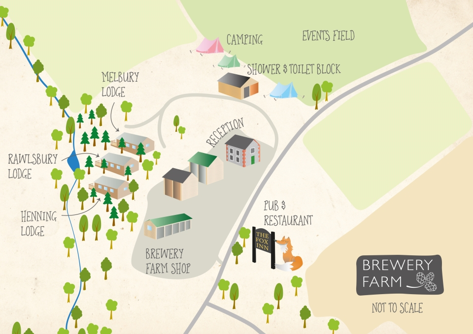 Brewery Farm site layout